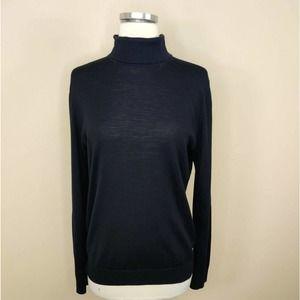Cos Turtleneck Sweater Cotton Merino Wool Blend